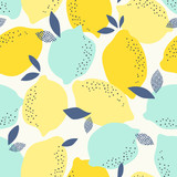 seamless pattern with citrus fruits - 139556660