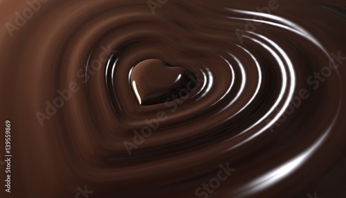 Fotografie, Obraz  Herz in Schokolade