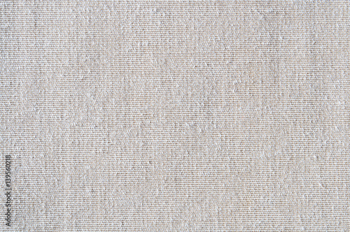Fotobehang Stof Closeup white or light beige color fabric texture. Fabric pattern design or upholstery abstract background..