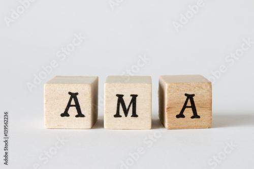 Photo AMAの文字、Ask Me Anything