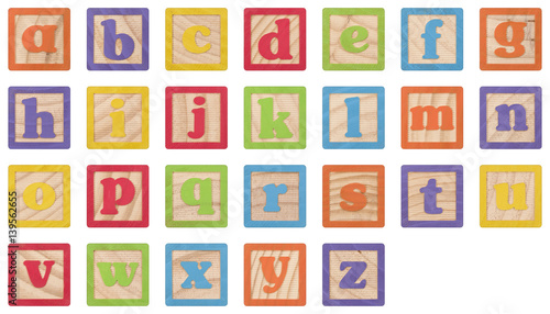 Alphabet Lowercase Letters Learning Blocks Buy This Stock Photo