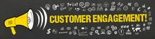 Customer Engagement! / Megafon Mit Symbole
