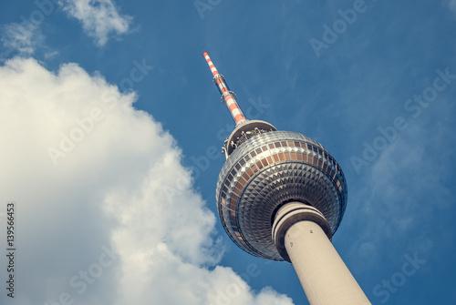 Poster Berlijn Berlin - Fernsehturm - Landscape