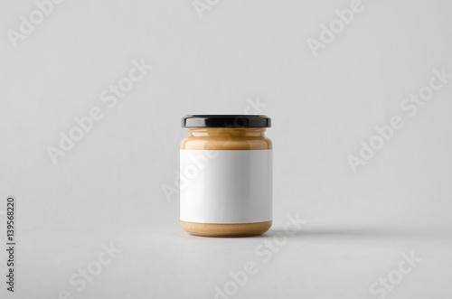 Fotografija Peanut / Almond / Nut Butter Jar Mock-Up - Blank Label