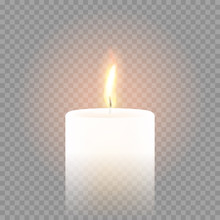 Candle Flame Burning 3D Realis...