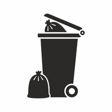 Full Wheelie Bin Icon
