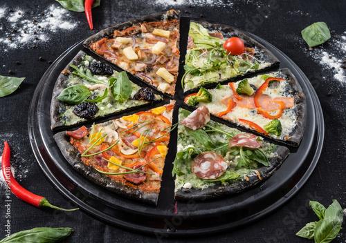 Obrazy wieloczęściowe kreatywna pizza