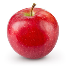 Red Apple Isolated On White Ba...