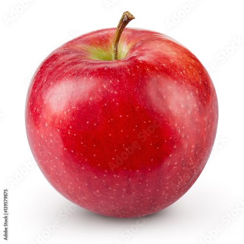 Fotografie, Obraz  Red apple isolated on white background. Fresh raw organic fruit.