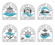 Nautical Collection Of Emblems...