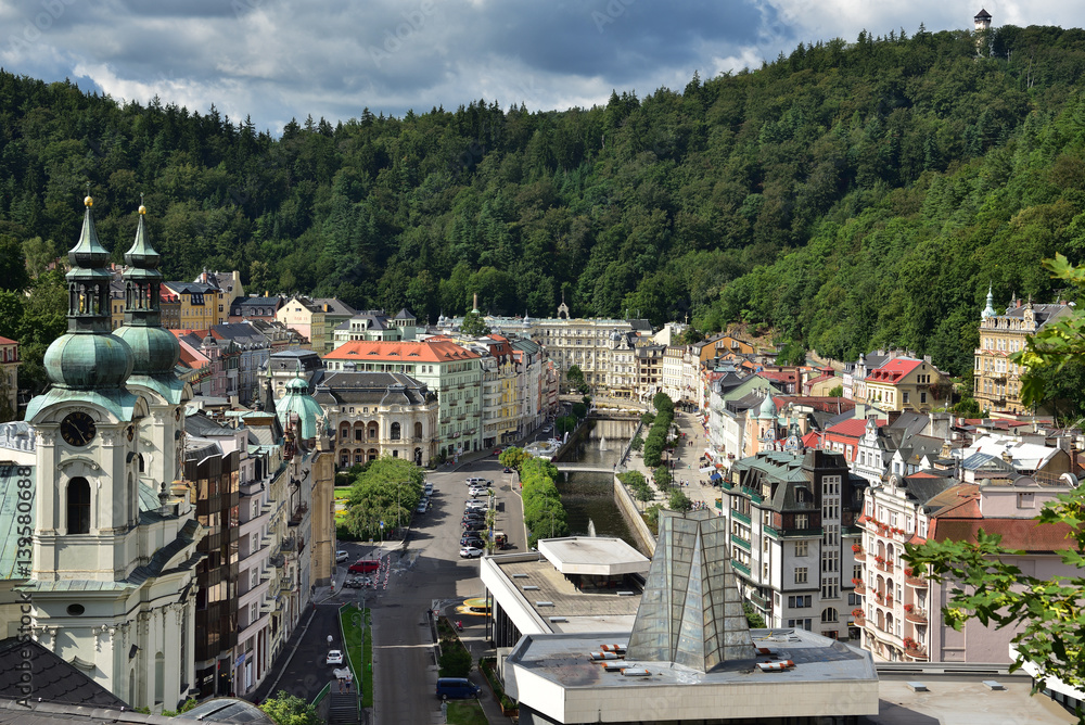 Blick auf Karlovy Vary / Karlsbad in Tschechien Poster | Sold at ...