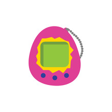 Vector Tamagotchi Icon. Isolated On White