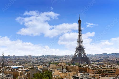 Papiers peints Paris Paris Eiffel tower and skyline aerial France