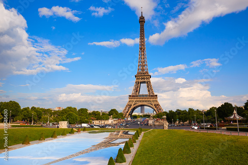 Papiers peints Paris Eiffel Tower in Paris under blue sky France