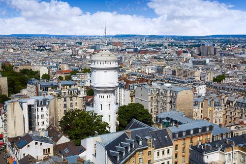 Papiers peints Paris Paris skyline aerial from Montmartre