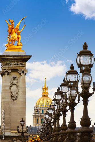 Photo sur Toile Europe Centrale Pont Alexandre III in Paris France over Seine