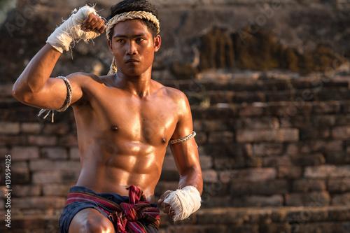 Plakat Sztuki walki Muay Thai, Thai Boxing, Muay Thai.