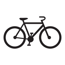 Isolated Bicycle Icon On A White Background, Vector Illustration