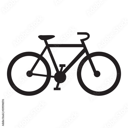 Papel de parede  Isolated bicycle icon on a white background, Vector illustration