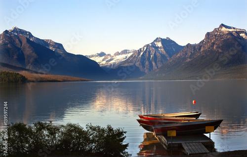 Valokuva  Lake McDonald Boats Glacier National Park