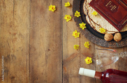 Keuken foto achterwand Assortiment Pesah celebration concept (jewish Passover holiday)