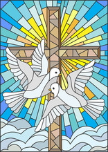 Illustration With A Cross And ...