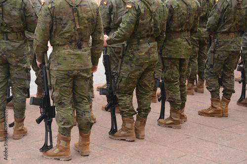 Fotografía  formación militar