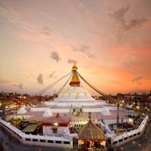 Boudhanath Stupa At Sunset In ...