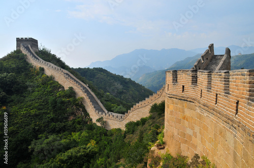 Montage in der Fensternische Chinesische Mauer CHINA Great Wall