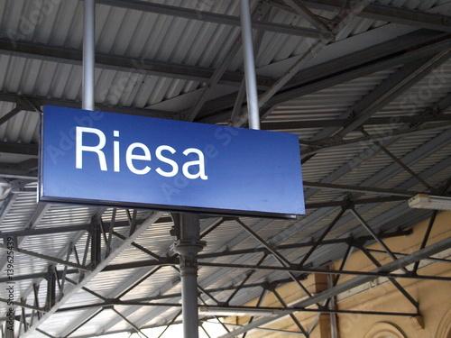 Foto op Canvas Treinstation Riesa Bahnhof