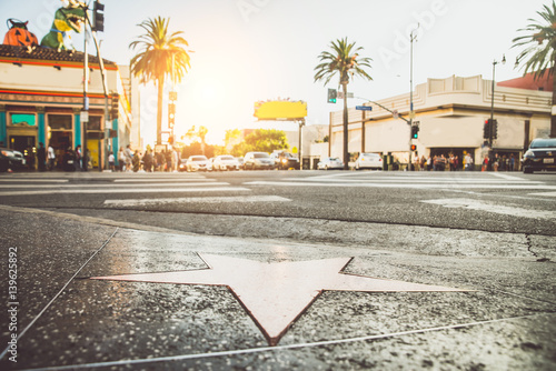 Poster de jardin Los Angeles Walk of Fame, Hollywood
