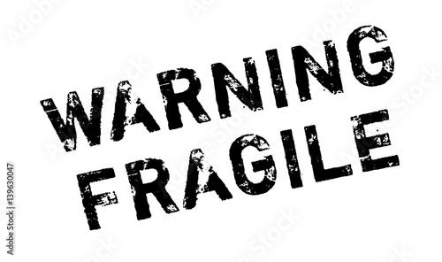 Photo Warning Fragile rubber stamp