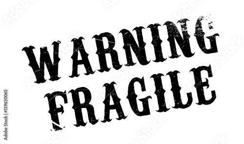 Warning Fragile rubber stamp Canvas Print