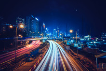 Hong Kong City Night Street