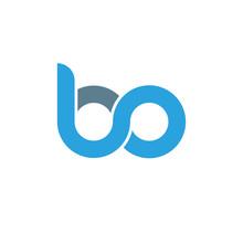 Initial Letter Bo Modern Linke...