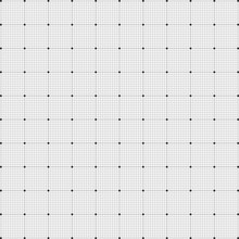 Vector Seamless Monochrome Wired Grid Pattern Design Background