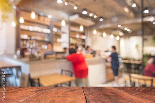 Zdjęcie XXL rozmycie kawiarni