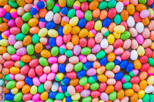 Poster Confiserie The Colorful easter eggs