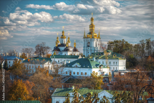 Fotobehang Kiev View of Kiev Pechersk Lavra