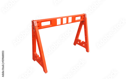 Orange Plastic traffic barriers  - Buy this stock photo and explore