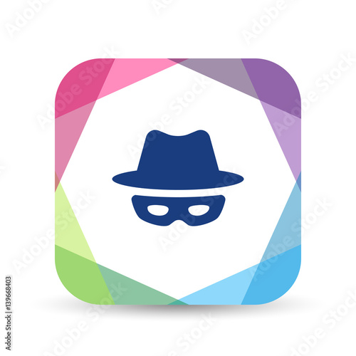 Cuadros en Lienzo Origami Mobile App Icon Series