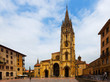 Cathedral of San Salvador in summer day. Oviedo