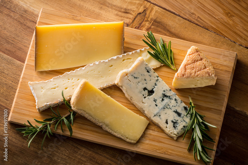 Deurstickers Zuivelproducten いろいろなチーズ