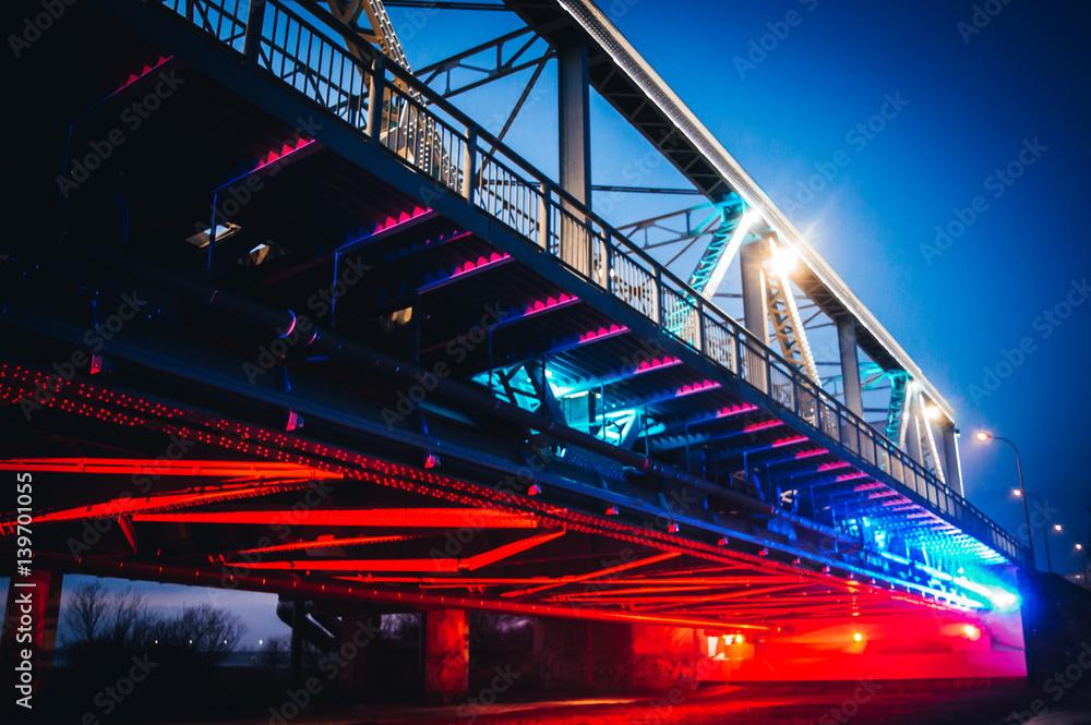Fototapeta Oświetlony most 2