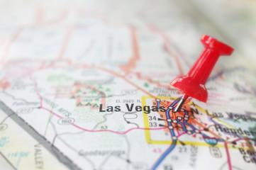 Fototapeta Las Vegas map pin