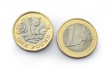 New Pound Coin With Euro Coin