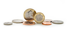 British Sterling Coins Including New Shape Pound Coin
