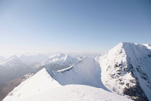 View Of Snowcapped Ben Nevis Mountain Against Clear Sky