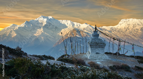 Photo Annapurna mountains in the Himalayas of Nepal.