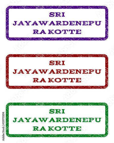 Sri Jayawardenepura Kotte watermark stamp  Text tag inside